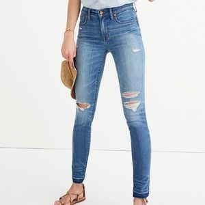 Madewell Distressed High Rise Jeans
